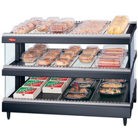 Hatco GRS3SDS-39D Glo-Ray 39 inch Slanted Double Shelf Heated Glass Merchandising Warmer - 2660W - 120/208V