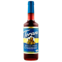 Torani 750 mL Sugar Free Strawberry Flavoring Syrup