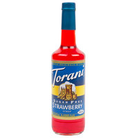 Torani 750 mL Sugar Free Strawberry Flavoring / Fruit Syrup