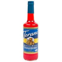 Torani 750 mL Sugar Free Strawberry Flavoring / Fruit Syrup