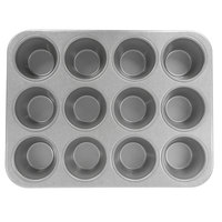 Chicago Metallic 43695 12 Cup Glazed Customizable Oversized Pecan Roll Pan - 13 1/2 inch x 17 7/8 inch