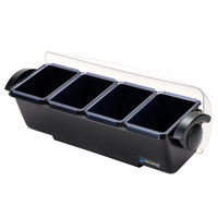 San Jamar BD4004 The Dome 4-Compartment Condiment Bar
