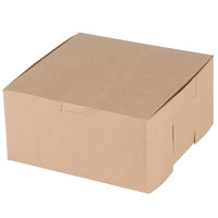 Southern Champion 0941K 8 inch x 8 inch x 4 inch Kraft Cake / Bakery Box - 250/Bundle