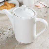 Tuxton AMU-102 Modena AlumaTux Pearl White 21 oz. Coffee Pot With Lid - 6/Case
