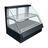 Hatco FSCDH-2PD Flav-R-Savor Convected Air Curved Front Display Case with Humidity Control