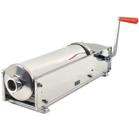 Manual 22 lb. Horizontal Sausage Stuffer with Stainless Steel Sides