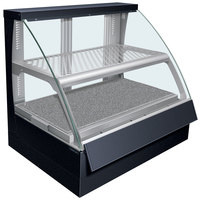 Hatco FSCDH-2PD Flav-R-Savor Convected Air Curved Front Display Case with Humidity Control - 120/240V