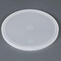 2 Qt. Microwavable Translucent Heavy Plastic Deli Lid - 100 / Case