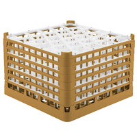 Vollrath 52849 Signature Lemon Drop Full-Size Gold 30-Compartment 11 3/8 inch XXXX-Tall Glass Rack