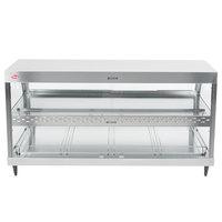 Hatco GRHD-4PD Stainless Steel Glo-Ray 58 1/2 inch Full Service Dual Shelf Merchandiser