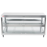 Hatco GRHD-4PD Stainless Steel Glo-Ray 58 1/2 inch Full Service Dual Shelf Merchandiser - 120/240V
