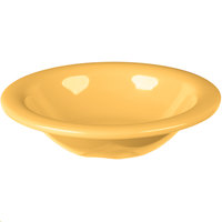Carlisle 3304022 Sierrus 6 oz. 6 inch Honey Yellow Rimmed Melamine Bowl - 48/Case