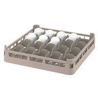 Vollrath 52675 Signature Full-Size Beige 20-Cup 2 11/16 inch Short Rack