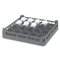 Vollrath 52674 Signature Full-Size Gray 16-Cup 2 3/4 inch Short Rack
