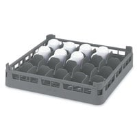 Vollrath 52675 Signature Full-Size Gray 20-Cup 2 11/16 inch Short Rack