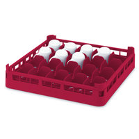 Vollrath 52674 Signature Full-Size Red 16-Cup 2 3/4 inch Short Rack