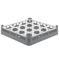 Vollrath 52694 Signature Full-Size Gray 16-Compartment 2 13/16 inch Short Glass Rack