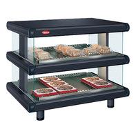Hatco GR2SDH-24D Black Glo-Ray Designer 24 inch Horizontal Double Shelf Merchandiser - 120V