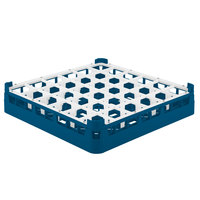 Vollrath 52689 Signature Full-Size Royal Blue 36-Compartment 2 13/16 inch Short Glass Rack