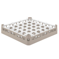 Vollrath 52689 Signature Full-Size Beige 36-Compartment 2 13/16 inch Short Glass Rack