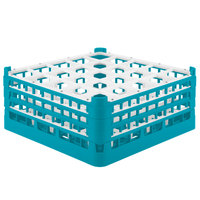Vollrath 52712 Signature Full-Size Light Blue 25-Compartment 7 1/8 inch X-Tall Glass Rack