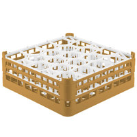 Vollrath 52704 Signature Lemon Drop Full-Size Gold 20-Compartment 6 1/4 inch Tall Plus Glass Rack
