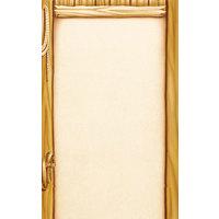 8 1/2 inch x 14 inch Menu Paper - Southwest Themed Saloon Design Left Insert - 100/Pack