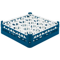Vollrath 52693 Signature Lemon Drop Full-Size Royal Blue 20-Compartment 4 5/16 inch Medium Glass Rack