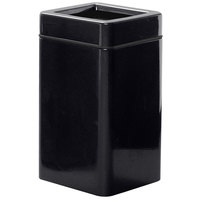 Rubbermaid FGFG1630SQTPLBK Open-Tops Black Square Fiberglass Waste Receptacle with Rigid Plastic Liner 20 Gallon