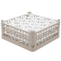 Vollrath 52706 Signature Lemon Drop Full-Size Beige 20-Compartment 7 1/8 inch X-Tall Glass Rack