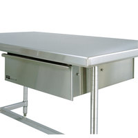 Metro WTD51S 24 inch x 25 inch Stainless Steel Deluxe Work Table Drawer