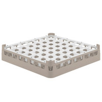 Vollrath 52699 Signature Full-Size Beige 49-Compartment 2 13/16 inch Short Glass Rack