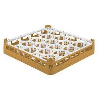 Vollrath 52692 Signature Lemon Drop Full-Size Gold 20-Compartment 3 1/4 inch Short Plus Glass Rack
