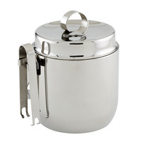 American Metalcraft DWIB40 Stainless Steel Double Wall 40 oz. Ice Bucket with Tongs