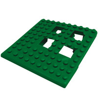 Cactus Mat 2554-HGC Dri-Dek 2 inch x 2 inch Hunter Green Vinyl Interlocking Drainage Floor Tile Corner Piece - 9/16 inch Thick