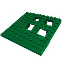 Cactus Mat 2554-HGC Dri-Dek 2 inch x 2 inch Hunter Green Vinyl Interlocking Drainage Floor Tile Corner Piece - 9/16 inch Thick