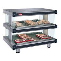 Hatco GR2SDH-36D Gray Granite Glo-Ray Designer 36 inch Horizontal Double Shelf Merchandiser