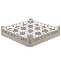 Vollrath 52694 Signature Full-Size Beige 16-Compartment 2 13/16 inch Short Glass Rack