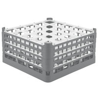 Vollrath 52713 Signature Full-Size Gray 25-Compartment 8 1/2 inch XX-Tall Glass Rack