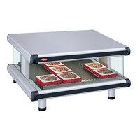 Hatco GR2SDS-42 White Granite Glo-Ray Designer 42 inch Slanted Single Shelf Merchandiser - 120V
