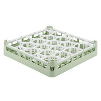 Vollrath 52691 Signature Lemon Drop Full-Size Light Green 20-Compartment 2 13/16 inch Short Glass Rack