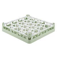 Vollrath 52691 Signature Lemon Drop Full-Size Light Green 20-Compartment 2 13/16 inch Short Glass Rack