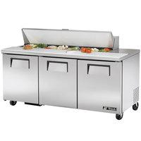True TSSU-72-16 72 inch Three Door Sandwich / Salad Prep Refrigerator