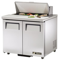True TSSU-36-8-ADA 36 inch 2 Door ADA Height Refrigerated Sandwich Prep Table