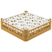 Vollrath 52693 Signature Lemon Drop Full-Size Gold 20-Compartment 4 5/16 inch Medium Glass Rack