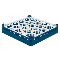 Vollrath 52691 Signature Lemon Drop Full-Size Royal Blue 20-Compartment 2 13/16 inch Short Glass Rack