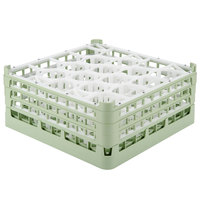 Vollrath 52707 Signature Lemon Drop Full-Size Light Green 20-Compartment 7 11/16 inch X-Tall Plus Glass Rack