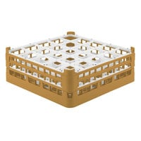 Vollrath 52711 Signature Full-Size Gold 25-Compartment 5 11/16 inch Tall Glass Rack