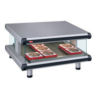 Hatco GR2SDS-42 Gray Granite Glo-Ray Designer 42 inch Slanted Single Shelf Merchandiser - 120V