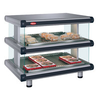 Hatco GR2SDH-60D Gray Granite Glo-Ray Designer 60 inch Horizontal Double Shelf Merchandiser